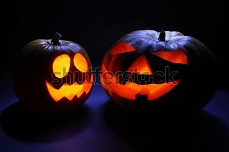 Iki halloween ürpertici kötü yüzler Stok fotoğraf © borna_mir