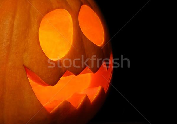 Kabak yüz gülen fener halloween gece Stok fotoğraf © borna_mir