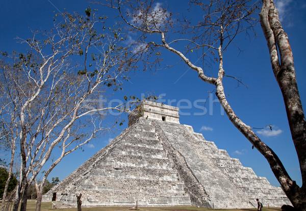 Chichen Itza Kukulkan temple Stock photo © borna_mir