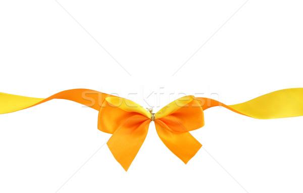 オレンジ 黄色 リボン 孤立した 色 ストックフォト © borna_mir