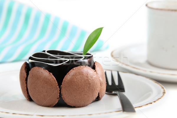 Lezzetli kahve kremsi çikolata tatlı Stok fotoğraf © borna_mir