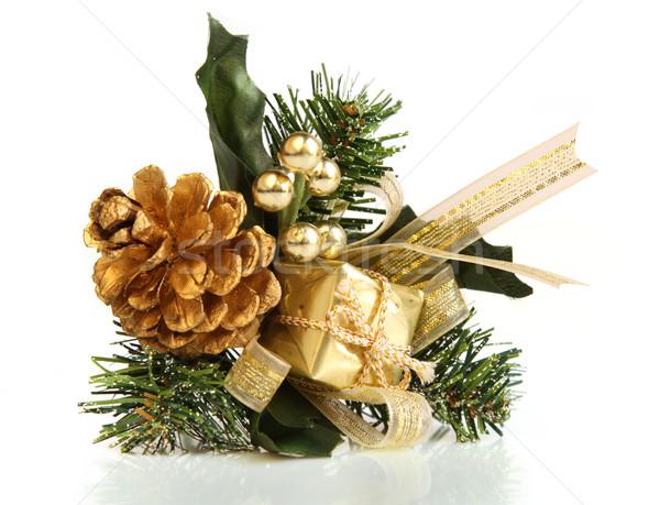 Noel dekoratif hediye yalıtılmış atış nesne Stok fotoğraf © borna_mir