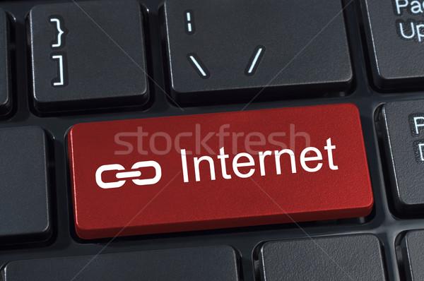 кнопки текста интернет ссылку икона Сток-фото © borysshevchuk