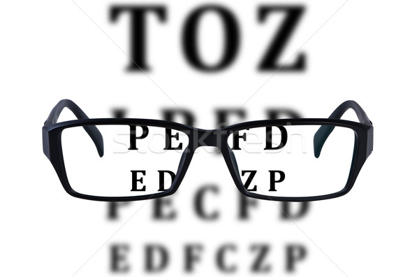 Olho óculos isolado traçar saúde fundo Foto stock © borysshevchuk
