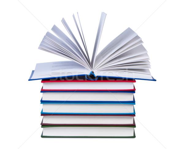 Open boek boeken geïsoleerd papier boek Stockfoto © borysshevchuk