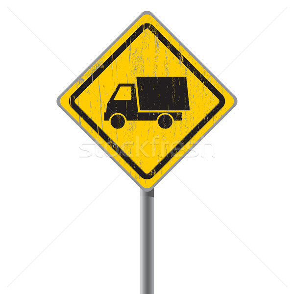 старые дорожный знак грузовика автомобилей текстуры Сток-фото © borysshevchuk