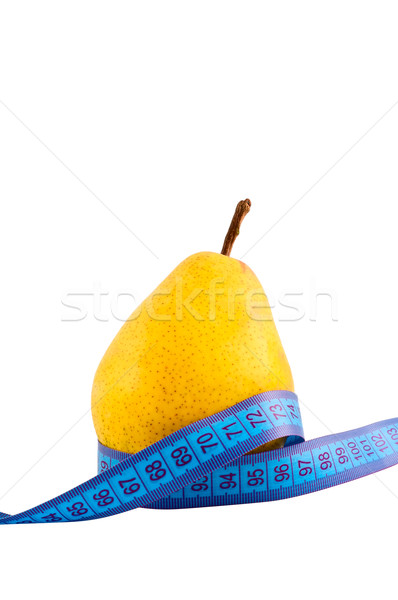 Stock photo: Pear ruler isolated on white.