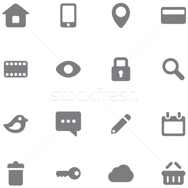 Set buttons and icons. Stock photo © borysshevchuk