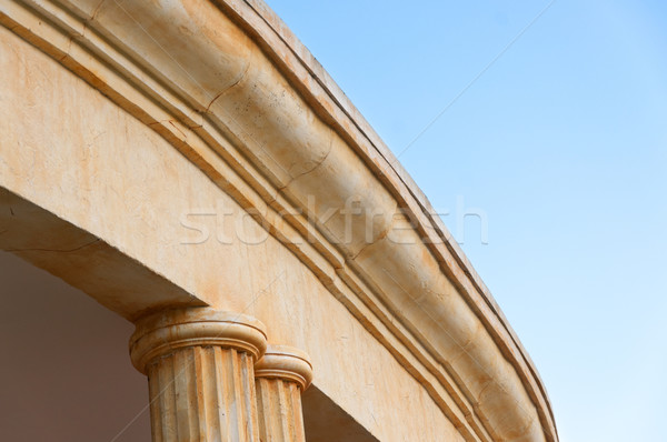 Part of the building with pillars. Stock photo © borysshevchuk