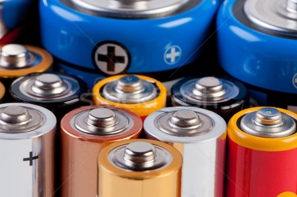 Accumulators and batteries close up. Stock photo © borysshevchuk