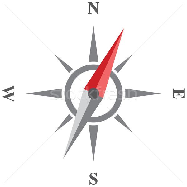 компас вектора икона ветер закрывается изолированный Сток-фото © borysshevchuk