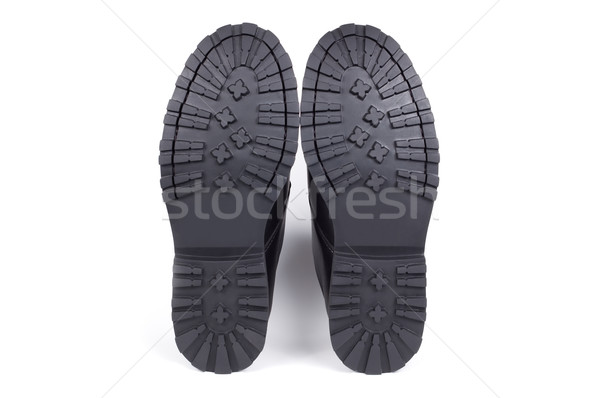 Laarzen geïsoleerd witte schaduw beneden schoenen Stockfoto © borysshevchuk