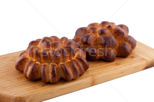 Korn Batch Bord weiß Essen Hintergrund Stock foto © borysshevchuk