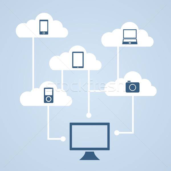 Concept of cloud storage. Stock photo © borysshevchuk
