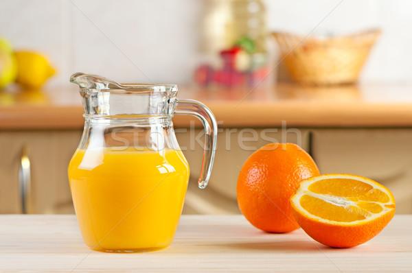 Freshly Squeezed Orange Juice Stock photo © borysshevchuk