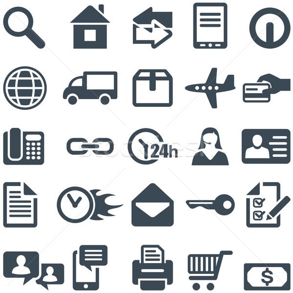 Сток-фото: иконки · мобильных · приложение · файла · eps10