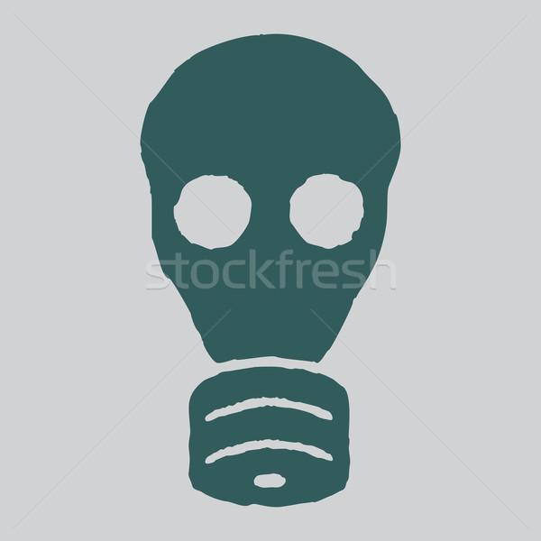 Yalıtılmış gaz maskesi vektör grunge örnek radyasyon Stok fotoğraf © borysshevchuk