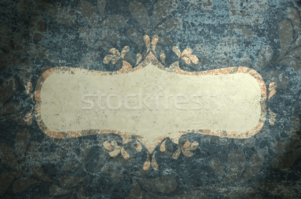 Frame with curls grunge background. Stock photo © borysshevchuk