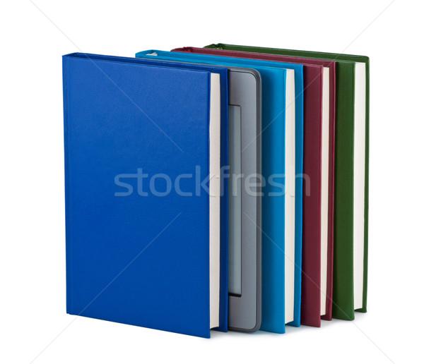 Electonics book with books on white background. Stock photo © borysshevchuk
