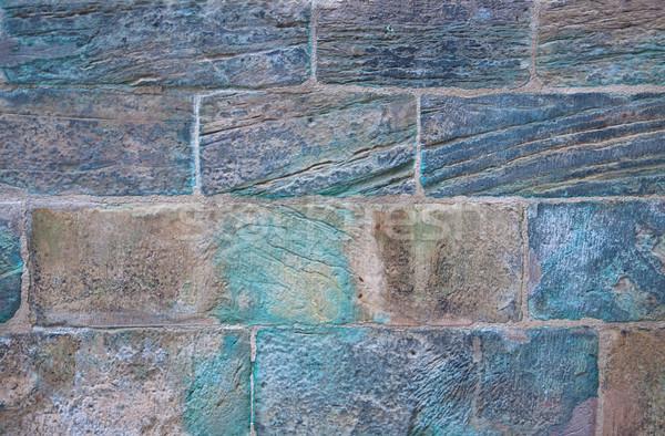 древних кирпичная кладка кислота цветами старые стены Сток-фото © borysshevchuk