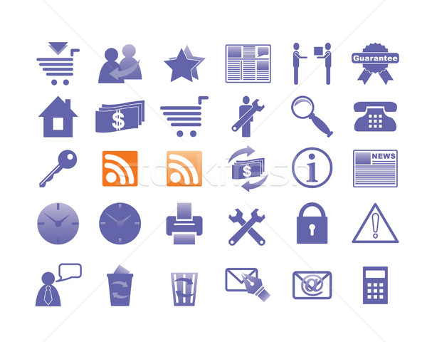 Icons for Internet and Website. Stock photo © borysshevchuk