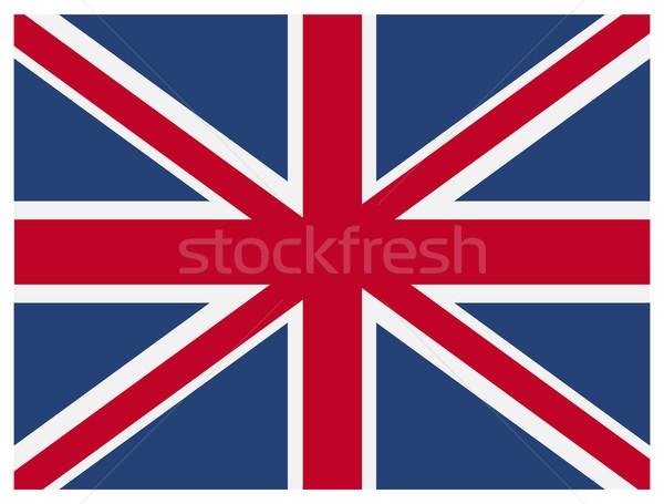 Vector British flag. Stock photo © borysshevchuk