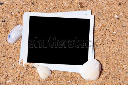 Lege foto strandzand vakantie herinneringen strand Stockfoto © borysshevchuk