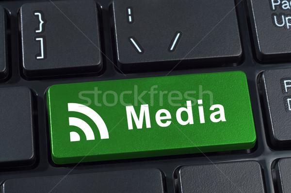 Foto d'archivio: Media · pulsante · tastiera · icona · internet · tecnologia