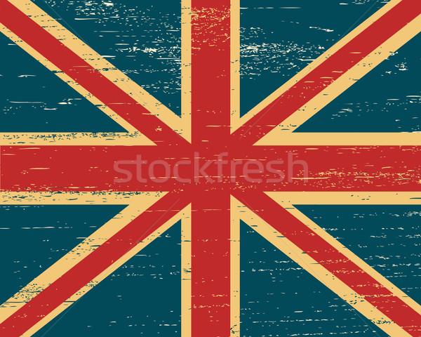 Vector shabby British flag. Stock photo © borysshevchuk
