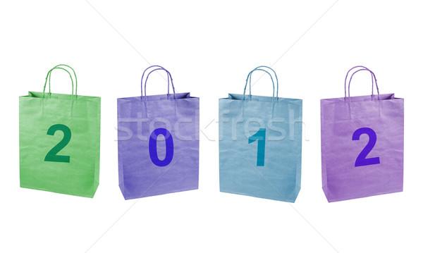 Nombre 2012 affaires Shopping présents Photo stock © borysshevchuk