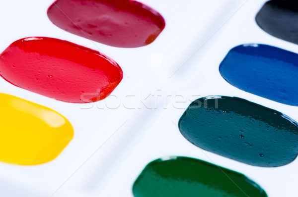 Childs Colourful Paint Set Stock photo © borysshevchuk