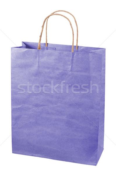Torby papierowe odizolowany biały worek kolor obecnej Zdjęcia stock © borysshevchuk