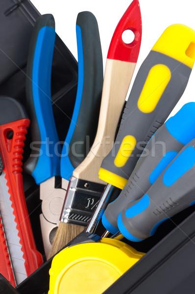 Tools in box closeup. Stock photo © borysshevchuk