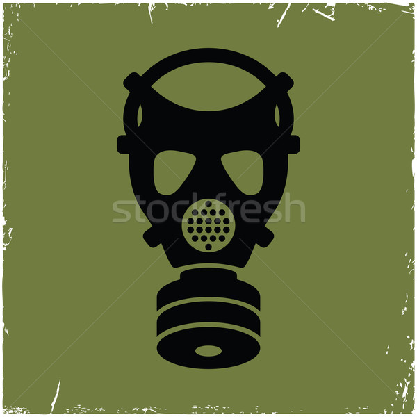 Gas mask on old background with effect of scratches. Stock photo © borysshevchuk
