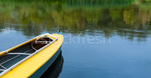 Lege kajak toeristische rivier sport boot Stockfoto © borysshevchuk