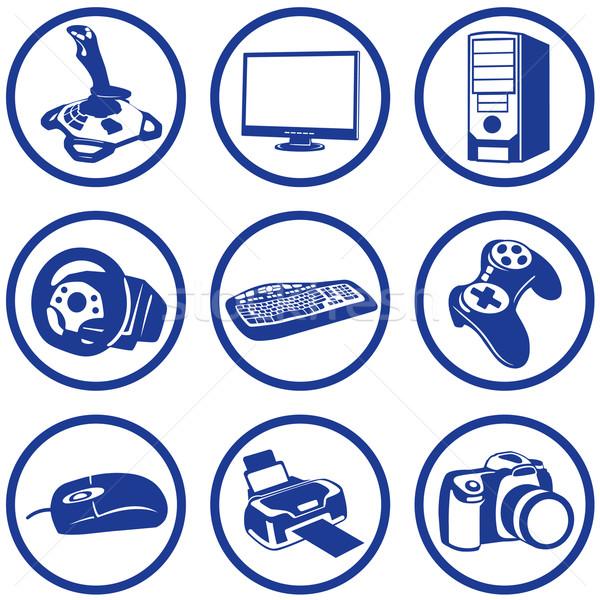 Stock photo: Pictogrammes electronics.