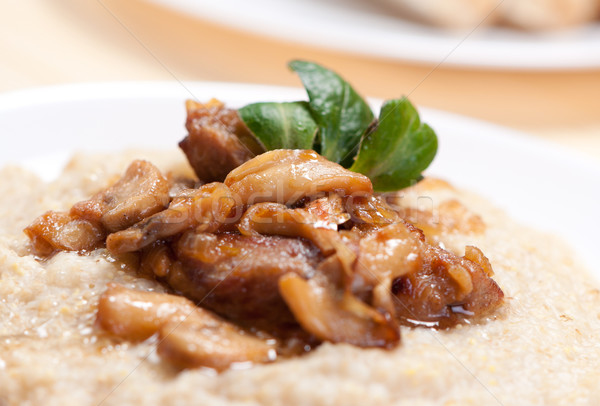 Porridge with mushrooms. Stock photo © borysshevchuk