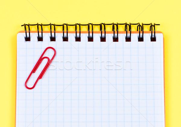 Notebook paper-clip closeup. Stock photo © borysshevchuk