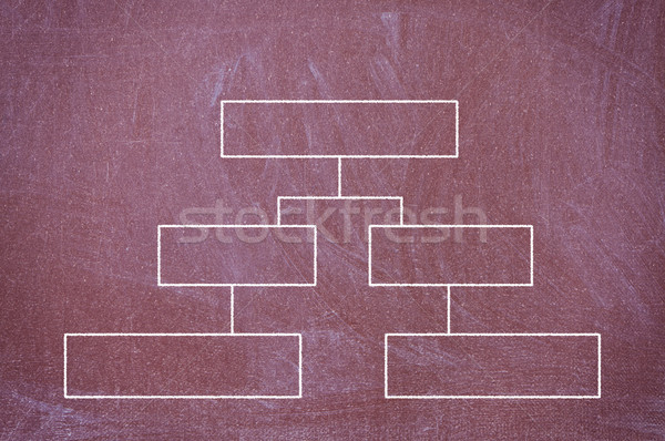 blackboard with a diagram drawn with chalk. Stock photo © borysshevchuk
