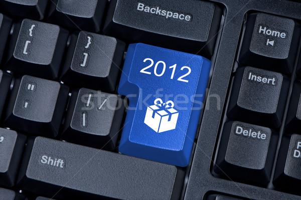 Stok fotoğraf: Düğme · bilgisayar · klavye · ikon · hediye · 2012 · klavye