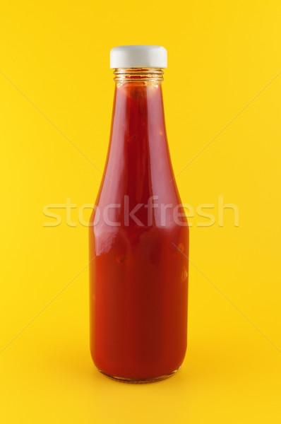 ケチャップ ボトル 黄色 トマト スパイス 明るい ストックフォト © borysshevchuk