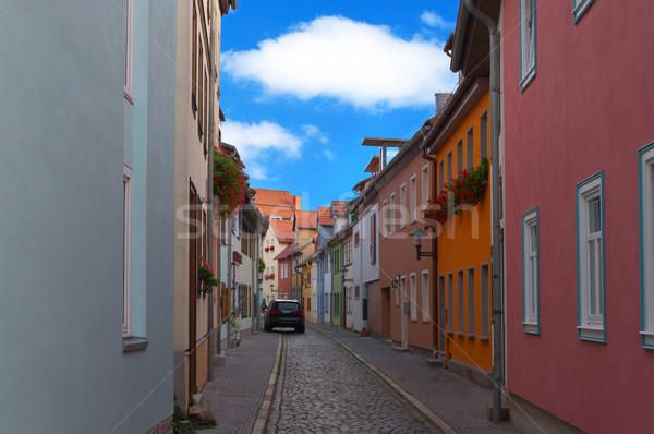 Narrow european street. Stock photo © borysshevchuk