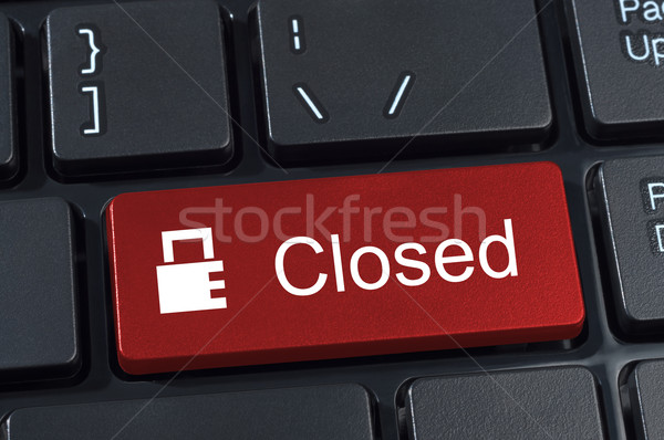 Kapalı düğme klavye ikon asma kilit Internet Stok fotoğraf © borysshevchuk