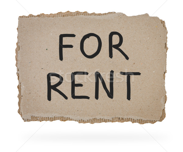 For rent inscription on piece of cardboard. Stock photo © borysshevchuk