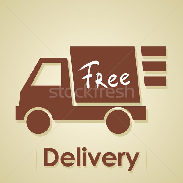 Vrachtwagen gratis goederen business reclame Stockfoto © borysshevchuk