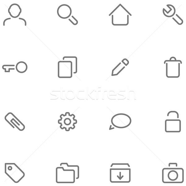 Conjunto simples vetor ícones teia Foto stock © borysshevchuk