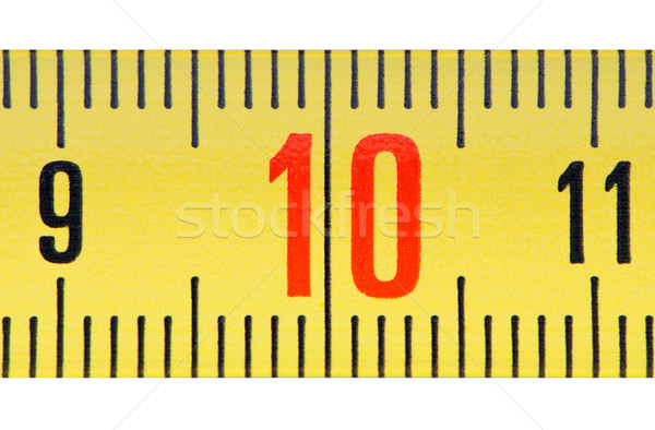 Ruler number ten close up. Stock photo © borysshevchuk