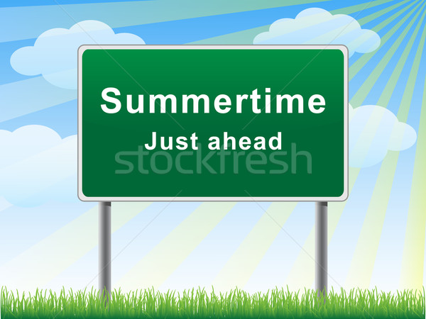 Summertime just ahead billboard. Stock photo © borysshevchuk