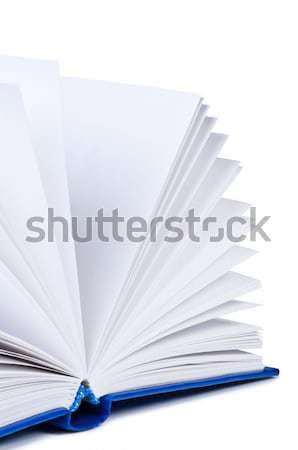 Open book on white background isolated. Stock photo © borysshevchuk