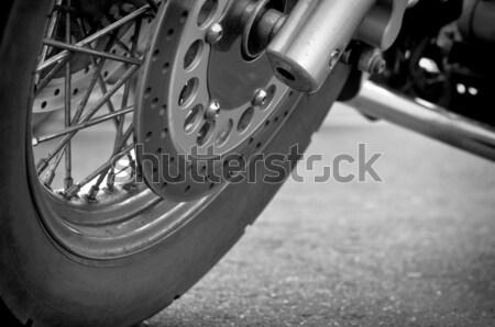 Wheel motorcycle close up. Stock photo © borysshevchuk